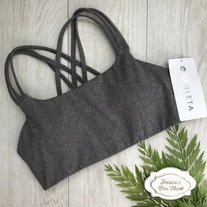 Athleta Intimates & Sleepwear - ATHLETA Hyper Focused Sports Bra NWT Small Grey
